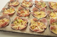 Omelet Cups ADAPT by using smoked turkey and eliminating dairy (and bacon!) Great chol hamoed breakfast for a crowd!