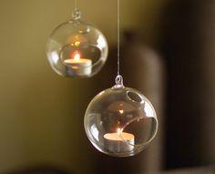 Bauble tea light holder