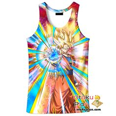 DBZ Immovable Entity Super Saiyan Goku Tank Top - Dragon Ball Z 3D Tank Tops And Clothing  #toy #comic #actionfigure #anime #actionfigures