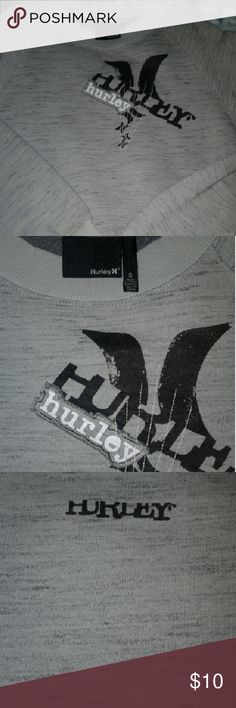 Hurley Sweater Grey Pullover Hurley Sweater Grey Pullover Small   Like New, Great Condition. Hurley  Sweaters