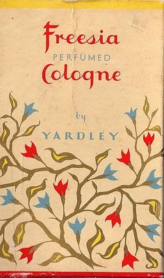 Freesia Cologne by Yardley package design, c. 1965 (via Mikey Ashworth)