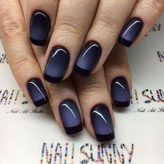 Navy nail art design | @mismimy_official Check out link in bio