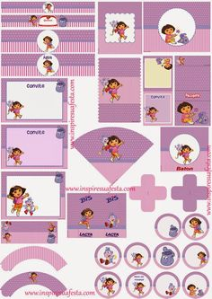 Kit de Dora la Exploradora para Imprimir Gratis.