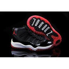3f92a5ec1254fa Kids Jordan 11 Black Red White