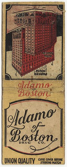 Adams of Boston Drug Co. [Exterior] by Boston Public Library, via Flickr