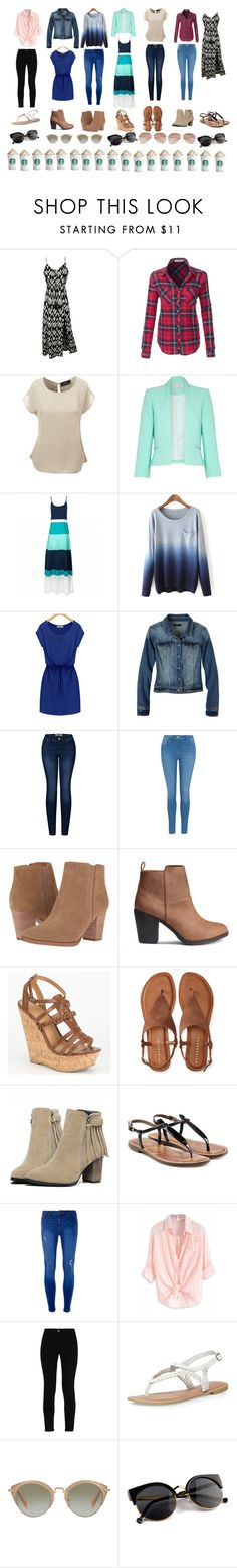"""""""My teacher looks 7 days a week!!!"""" by hbananaanna ❤ liked on Polyvore featuring LE3NO, Damsel in a Dress, prAna, 2LUV, George, Franco Sarto, Delicious, Aéropostale, Sam Edelman and Dorothy Perkins"""