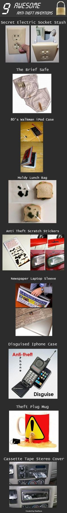 9 Awesomely Creative Anti Theft Inventions
