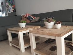 I have these tables in Oak and wondered how to spruce them up. Love this idea. Diy Furniture Projects, Ikea Furniture, Handmade Furniture, Furniture Makeover, Comedor Shabby Chic, Ikea Lack Table, Ikea Lack Hack, Home And Deco, Home Living Room