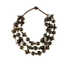 Collier Multirang Perles en Bois