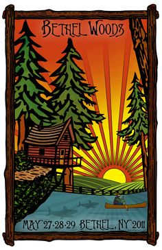 Original concert lot poster for PHISH at Bethel Woods, NY 2011. 11x17 on glossy card stock. Limited edition of only 150!! Signed and numbered by artist Maria DiChiappari. Made with love!!
