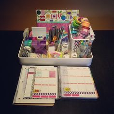 Cute and portable planning station.