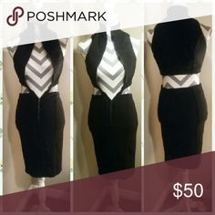 Amazing multi-style dress Zip up all the way or part way, however you choose looks so sleek and sexy! R3hab Dresses Midi