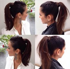 High pony tail and braid