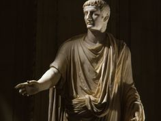 TIBERIUS 42 BC -37 AD, SECOND ROMAN EMPEROR, MARBLE STATUE FROM THE VATICAN COLLECTION