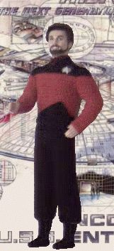 #FREE #PATTERN for #Ken:  #Reiker's #Star #Trek #Outfit #SET includes: #Boots, #Outfit, and #Communicator! @Sandie Petit