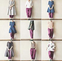 Purple Linen Turnip Pants Leisure Trousers Women Clothes