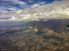 Haboob 2 from the air. Phoenix Arizona    Here's another shot I got out of the plane yesterday of the massive dust storm swallowing the east side of the Phoenix metro area.