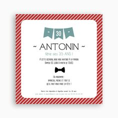 Invitation Anniversaire Adulte - Fanions | Carteland.com