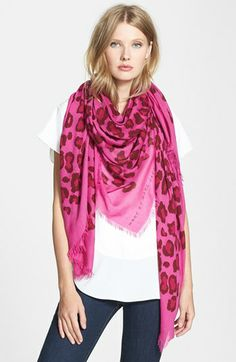 MARC BY MARC JACOBS 'Sasha' Leopard Print Scarf   Nordstrom