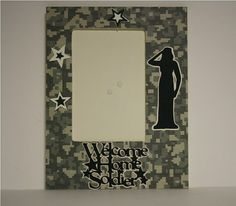 Welcome Home Soldier table top military by ITSHOWYOUFRAMEIT, $10.00