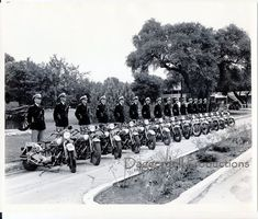Motorcycle Cops Photo 1938- 8X10 Print- Vintage Reproduction Photography- Historical Photo- Texas Highway Patrol-  Affordable Wall Art