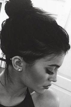 Kylie Jenner Ear Piercing Jewelry at MyBodiArt
