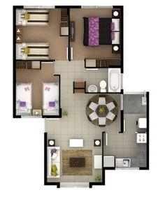 63m2 3 dormitorios