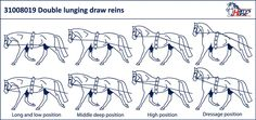 Double lunging draw reins black - 31008019 - Harry's Horse
