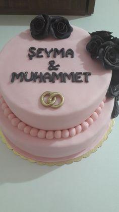 Fondant cake, şeker hamuru pasta, nişan pastası