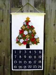 Felt Christmas Advent Calendar by twirlybirdbaby on Etsy, $90.00