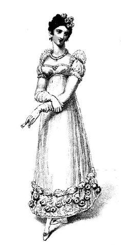 Ball dress from La Belle Assemblée (Apr 1816)