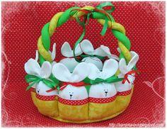 Como fazer cesta de páscoa em tecido - Artesanato Brasil