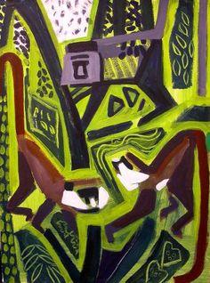 110‐6002<b>red-tailed & blue monkey</b>Kibale forest, Uganda76 x 57 cms£230‐GregPoole