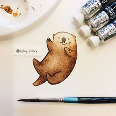 I can't believe it's the end of the year already! it went by so quickly! Thank you all for a wonderful 2016, I hope you had a great year and have an even better one in 2017! - - Here is a little otter friend wishing you a happy new year - - #illustration #illustrationoftheday #drawing #drawingoftheday #art #instaart #instaartist #sketch #sketchbook #paint #painting #watercolor #cute #otter #seaotter #ottersofinstagram #newyear #happynewyear #hello2017 #animalfriends #alwayssmiling ...