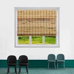 "Amazon.com: TJ GLOBAL Cordless Flatstick Bamboo Roman Window Blind Sun Shade, Light Filtering Shades with 7-Inch Valance - Light Bamboo (28"" x 64""): Home & Kitchen Bamboo Roman Shades, Cordless Roman Shades, Porch Shades, Bamboo Light, Bamboo Blinds, Light Filter, Shades Blinds, Roller Shades, Blinds For Windows"