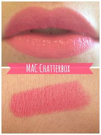 MAC, Chatterbox Oh hi there new favourite lipstick! This has been on my lust list for quite a while now but. Eye Candy Makeup, Mac Makeup, Love My Makeup, Gorgeous Makeup, Lipstick Shades, Lipstick Colors, Lip Colour, All Things Beauty, Beauty Make Up