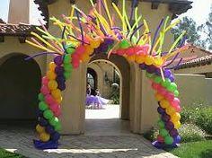 Resultado de imagen para arcos de entrada con globos