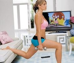 The lazy girl workout timed for a 30 min tv show with commercials. This is ridiculous and possibly perfect.