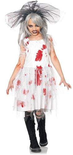Zombie Bride Child Costume Brains are on this bride's dinner menu! Details Was: $39.99 Price: $34.99 13% OFF