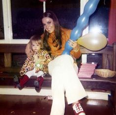 Natalie Wood with one of her children