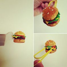 Burger bookmark for the foodie book lover