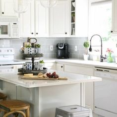 A year-long modern kitchen makeover is finished! Gorgeous inspiration for modern farmhouse style!