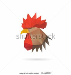 Geometric Rooster Profile
