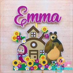 Diy Cake Topper, Cake Toppers, 3rd Birthday, Birthday Parties, Marsha And The Bear, Making Paper Mache, Disney Frozen Birthday, Cake Templates, Bear Theme