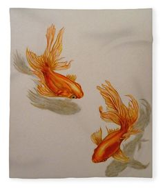 Goldfish Twins Fleece Blanket x by Faye Anastasopoulou. Our luxuriously soft throw blankets are available in two different sizes and feature incredible artwork on the top surface. The bottom surface is white. Fleece Blankets, Soft Blankets, 3d Presentation, Tropical Animals, Fusion Art, Blankets For Sale, Pattern Pictures, My Themes, Cartoon Wallpaper