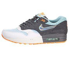 size 40 e1c5d 5a31a Nike Womens Air Max 1 Prm WhiteMtllc SlvrDrk GryGlcr Running Shoe 9 Women  US