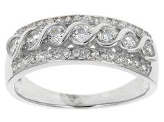 Bella Luce (R) 1.06ctw Rhodium Over Sterling Silver Ring (.60ctw Dew)