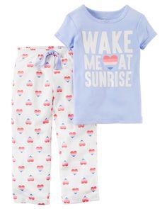 Toddler Girl 2-Piece Cotton & Jersey PJs | Carters.com
