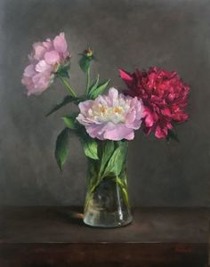 Peonies Original Oil Painting Still Life Flowers - Painting Oil Painting Flowers, Oil Painting Abstract, Acrylic Painting Canvas, Watercolor Paintings, Oil Paintings, Floral Paintings, Flower Bouquet Drawing, Flower Art, Drawing Flowers
