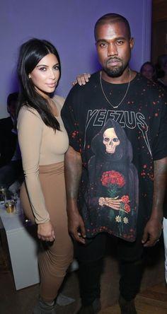Le créateur avec le célèbre couple formé par Kim Kardashian et Kanye West.
